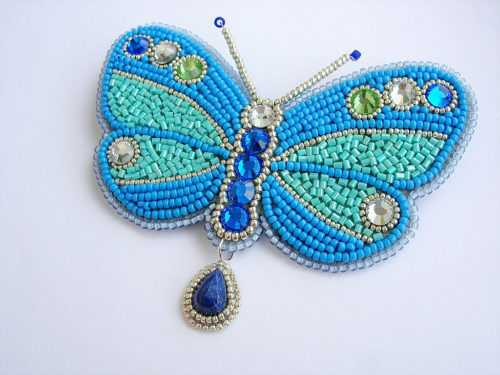 Красивая бабочка из бисера: фото, инструкция и схемы плетения красивого украшения из бисера