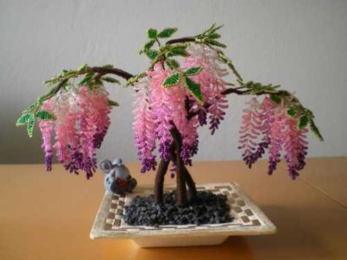 Деревья из бисера — плетем роскошные ветвистые деревья своими руками (105 фото идей)