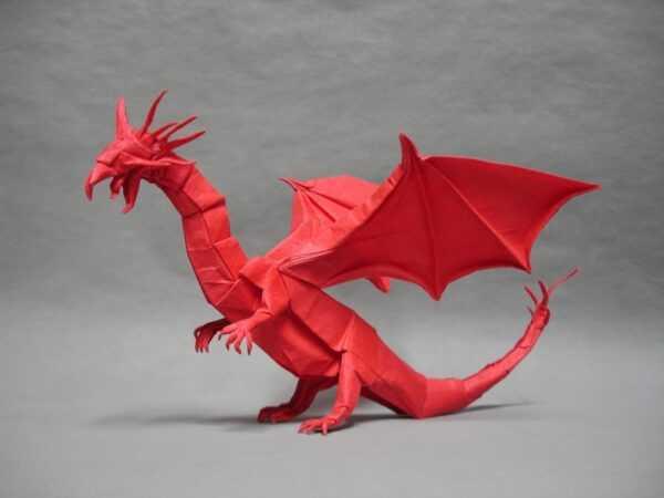 Дракон оригами — описание схем, инструкция по сборке своими руками, фото готовых вариантов