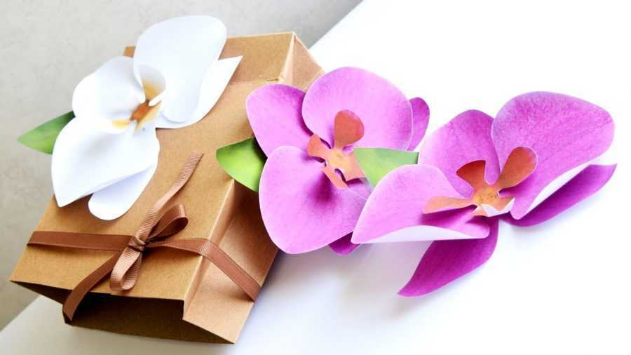 Орхидея из бумаги — как сделать своими руками цветы из бумаги (120 фото)