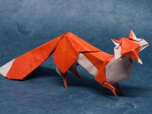 Оригами лиса из бумаги: легкий мастер-класс по складыванию оригами с фото и описанием