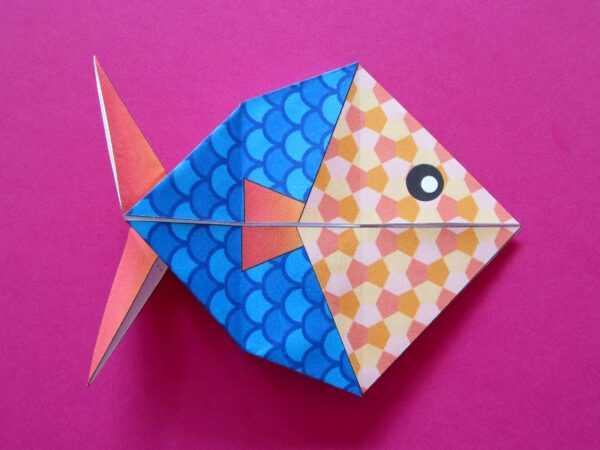 Оригами рыбка: схемы сборки и особенности складывания поделок в виде рыбки. 145 фото и мастер-класс