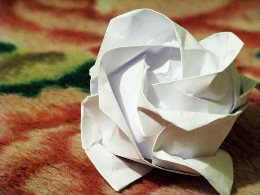 Роза в технике оригами (80 фото идей): лучшие схемы для начинающих как сделать модульный цветок своими руками