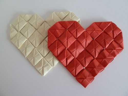 Сердце из бумаги оригами — как сделать в технике оригами разные типы сердец и валентинок (95 фото идей)